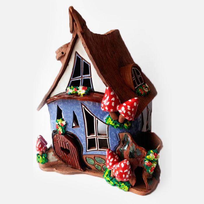 Quemador casa de las setas rojas mi casita quemador for Setas para decorar